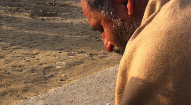 Afghan man texting