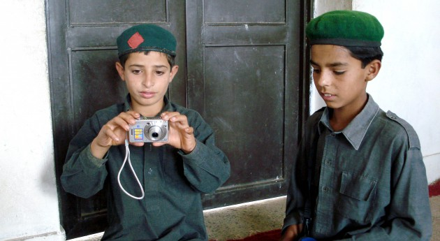 Pakistani boys with camera
