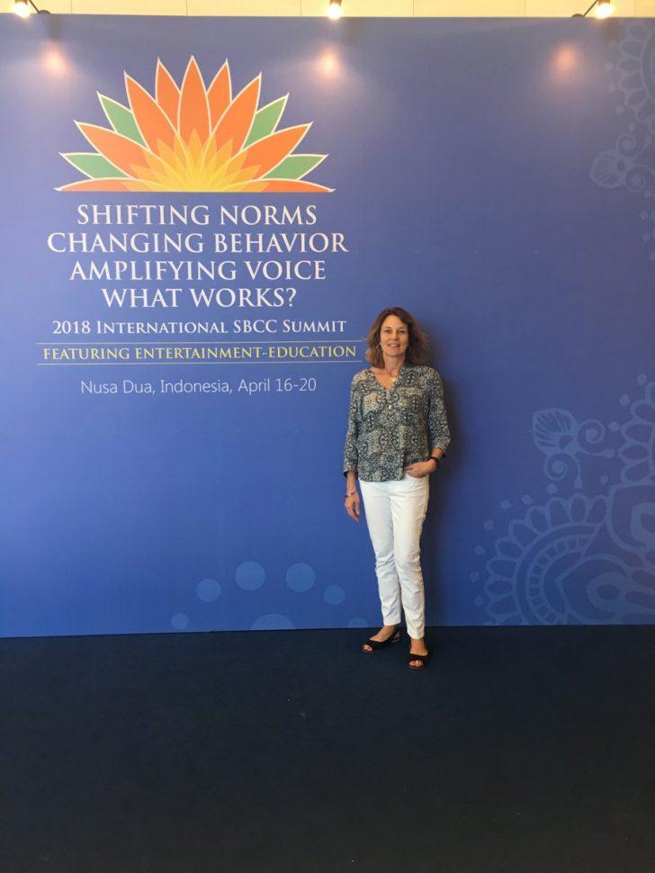 Nicola Harford at SBCC summit in Bali